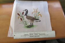 Hand Painted Canada Goose Needlepoint Canvas Only Cattail Marsh 10 x 10""