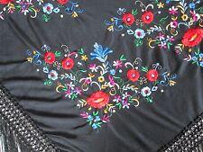 Magnique CHALE - ETOLE  en polyester  BRODE - TBEG - foulard Scarf 180 x 80 cm