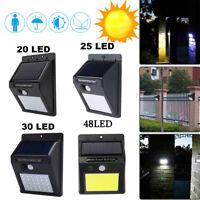 Outdoor Waterproof LED Solar Power PIR Motion Sensor Wall Light Garden Path Lamp