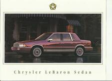 CHRYSLER LE BARON Berlina (mercato USA) BROCHURE DI VENDITA Auto/foglio 1990