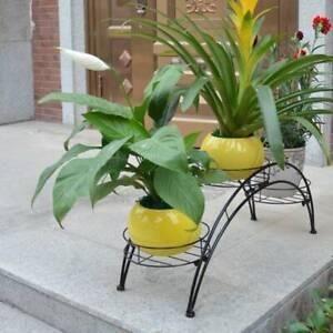 3 Tier Metal Plant Pot Stand Holder Indoor Outdoor Decor Flower Planter Display