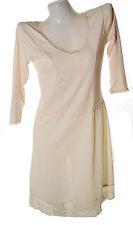 Women's sleep full slip cotton nylon dress gown no.10 light pink sz 34