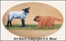 Belgian Shepherd Tervuren Pup Puppy Dog Herding Sheep OE Art Print