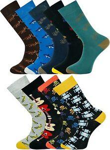 Mysocks Unisex Socks Finest Combed Cotton Multi Design Perfect Finishing