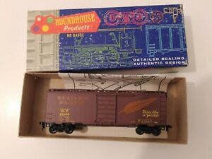 Roundhouse HO Scale 40' Box Car Western Pacific 19544