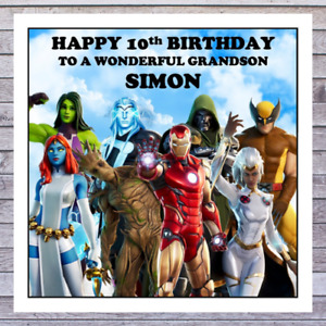KIDS FORTNITE BIRTHDAY CARDS - personalised with any AGE RELATIONSHIP & NAME