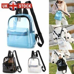 Mini Transparent PVC See Through Clear Backpack Waterproof Sport Bag Casual Bag