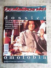 BABILONIA mensile gay e lesbico n.160 novembre 1997 Oscar Wild, Giornalisti gay