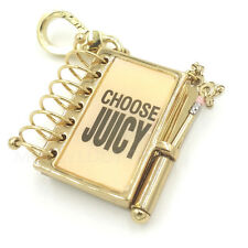 JUICY COUTURE PINK NOTEBOOK CHARM ,FOR BRACELET, NECKLACE ,CUTE AND RARE