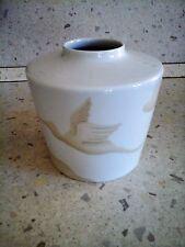 Vaso in porcellana tedesca della Rosenthal decoro aironi anni '50