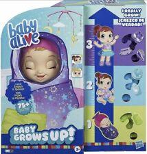 Baby Alive Grows up Dreamy - Shining Skylar or Star Dreamer Doll Fast Ship