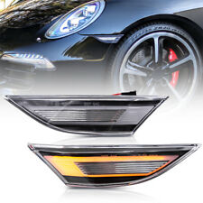 Clear Lens Amber LED Side Marker Light for 12-up Porsche 991 Carrera 718 Cayman