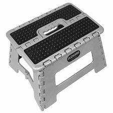 Black & Grey Small Folding Step Stool Home Office Kitchen Kids Caravan Childs