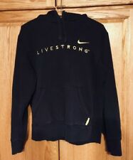 Men's NIKE LIVESTRONG Pullover Hoodie Sweatshirt Black Yellow Lance Armstrong M