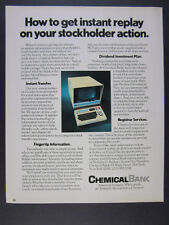 1975 Chemical Bank Stock Transfer On-Line Computer System vintage print Ad