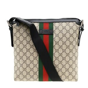 Gucci Messenger Bag GG Supreme Web Stripe New