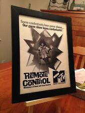 "FRAMED ORIGINAL 1988 MTV ""REMOTE CONTROL"" GAME SHOW MAGAZINE PROMO AD"