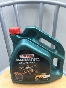 CASTROL MAGNATEC STOP-START OIL / 5W -30 A5 FULLY SYNTHETIC / 4L / NEW