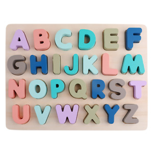Alphabet Number Wooden Jigsaw Children Baby Learning Educational Puzzle Toy