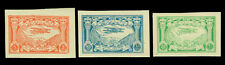 AFGHANISTAN 1939 AIRMAIL - Biplane over Kabul - IMPERF. set Sc# C1a-3a  mint MLH