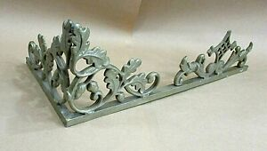 Acorn Oak Leaf Vintage Gold Painted Cast Metal 8x18 Corbel L Railing FREE S/H