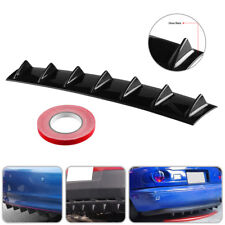33''x6'' Shark Fin Lip Spolier Diffuser Rear Bumper W/7 Wings Universal Car Kit