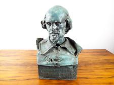 Antique Bronze Artwork Sculpture Shakespeare Bust The Bard W O Partridge 1893