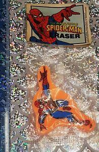 Vintage Spider-Man Eraser Rubber New Merchandise 1980s