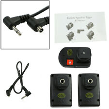 WANSEN PT-04GY 4 Channels Wireless Flash Trigger + 2 Receivers For Canon Nikon