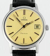 Vintage 1972 OMEGA Geneve Date Cal 613 Stainless Steel Mens Wrist Watch