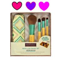 ECOTOOLS Boho Luxe Makeup Brush Travel 5 pc Set Concealer Face Powder Eye + BAG!