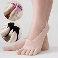 Chaussettes basses invisibles anti-dérapantes en dentelle de coton mélangé