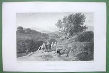 SICILY Italy Val di Noto - 1823 Original Copper Engraving Print
