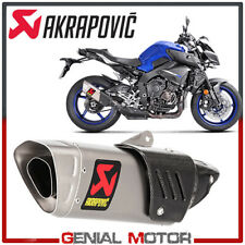 Exhaust Titanium Approved Muffler Akrapovic for Yamaha MT-10 2016 > 2019