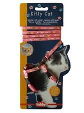 Set harnais et laisse pour chaton/petit chat, nylon, 21–34 cm/8 mm, 1,20 m rose
