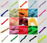 27m Nylon Macrame Cord Thread String For DIY Craft Jewelry Making,16 Colors