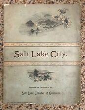 Salt Lake City: A Sketch of Utah's Wonderful Resources -- 1888 original edition