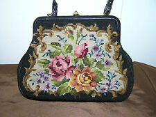 Vintage Ladys Bag Decorated With Roses.