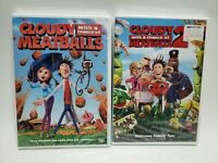 Cloudy with a Chance Of Meatballs 1 & 2 DVD Lot New Sealed! Kids Animated Movie