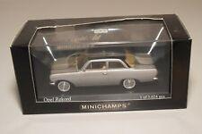 A2 1:43 MINICHAMPS OPEL REKORD A 1963 METALLIC SILVER GREY MINT BOXED