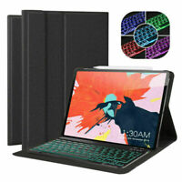 "iPad Pro 12.9"" 3rd Gen 2018 Wireless Backlit Bluetooth Keyboard Stand Case Cover"