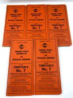 1976 Missouri Pacific Railroad System Timetable No. 7 Employee Lot of 5