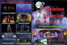 DVD SKELETON INVASIONS PROJECTION HALLOWEEN PROP DECORATION *SEE VIDEO*