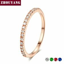 Cubic Zirconia Rose Gold Fashion Jewelry Wedding Engagement Rings For Women Mini