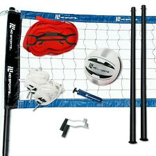 New listing Volleyball Set Official Size Net Ball Poles Outdoor Team Sports Beach Park Games