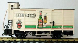 LGB 40260 BECK'S BEER BOX CAR W/ BRAKEMANS HOUSE