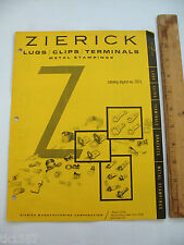 Zierick Lugs/Clips/Terminals Metal Stampings Catalog digest no. 7071