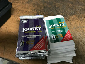 1991 Jockey Guild 1992 Jockey Guild Trading Cards 16 packs Unopened