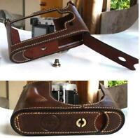 New Genuine Real Cow Leather Half Case Bag For  Leica Q Typ116 Camera  Brown