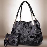 Women Handbag Set Lady Shoulder Bags Tote Purse Messenger Satchel Faux Leather S